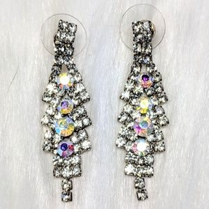Jewelry - Iridescent Rhinestone Drop Earrings